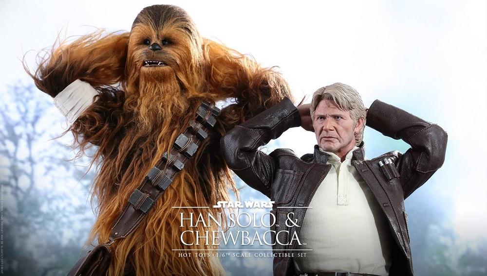 Hot Toys Han Solo & Chewbacca TFA T