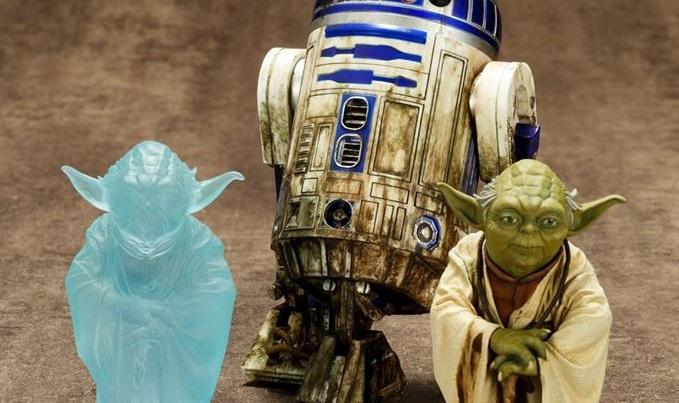 #shortcut: Neue Bilder zum Kotobukiya Dagobah Yoda & R2-D2 Set