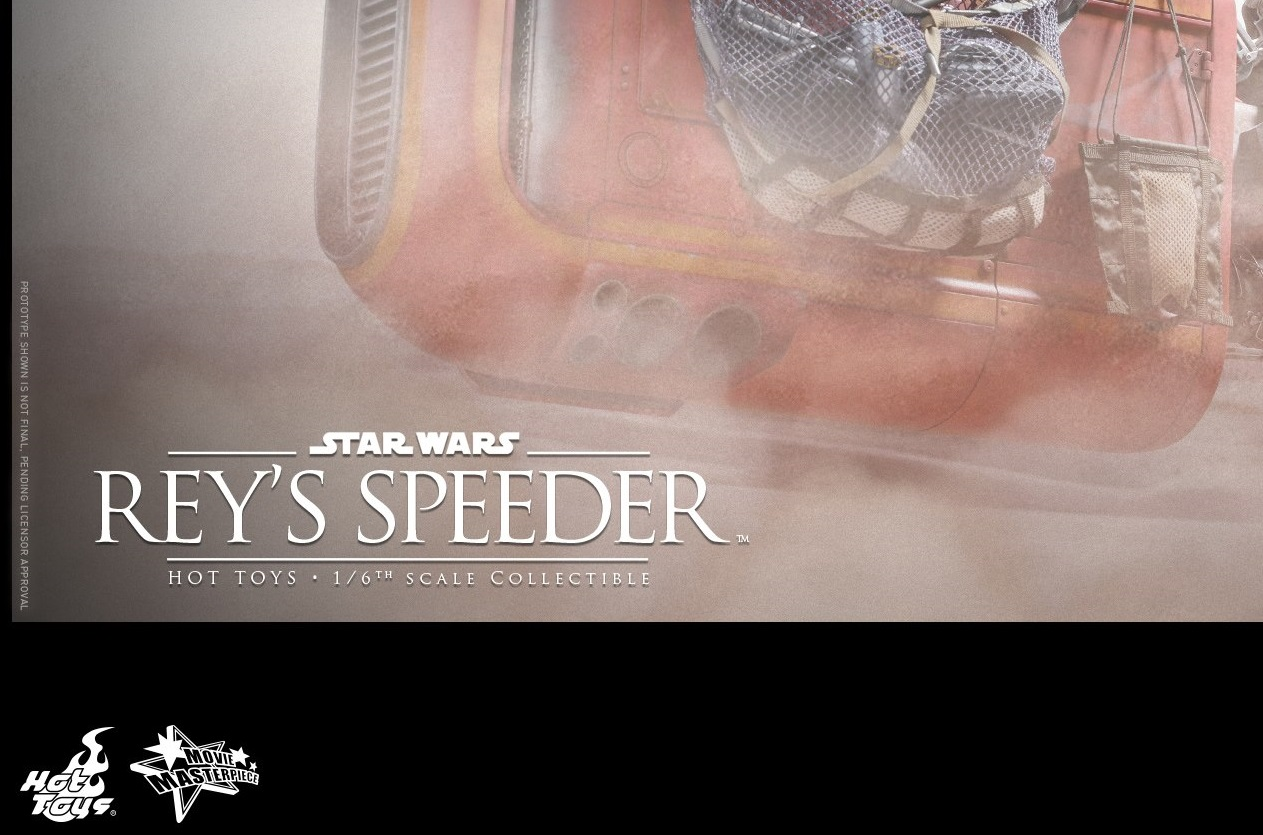#shortcut: Hot Toys Reys Speeder vorgestellt