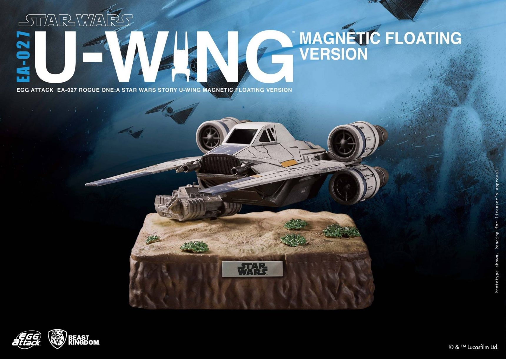 Schwebender Beast Kingdom U-Wing Starfighter