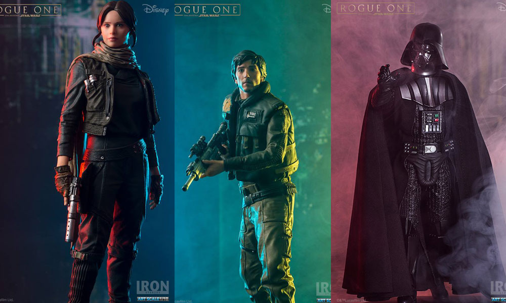 Offizielle Bilder der Iron Studios Rogue One Figuren