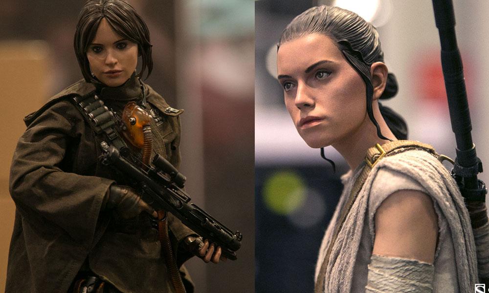 Sideshow zeigt Rey & Jyn Erso Premium Format Figuren