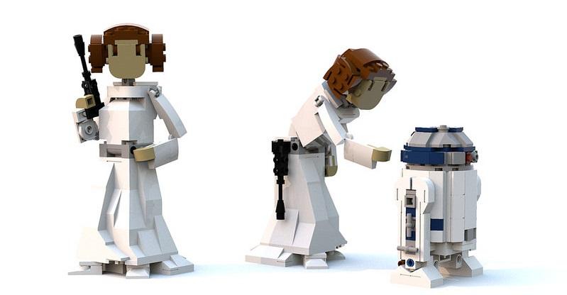 Brick-Built LEGO Princess Leia – Anleitung