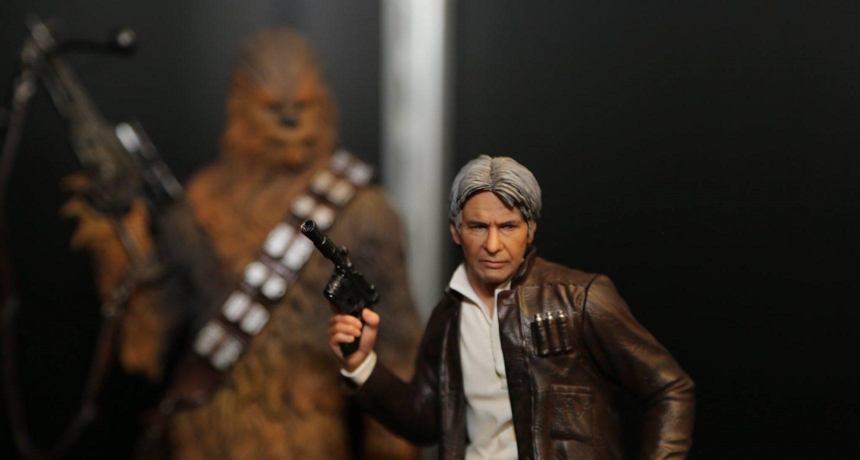 Kotobukiya ArtFX+ Han Solo & Chewbacca TFA Set ausgestellt