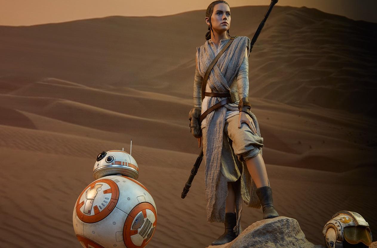 #shortcut: Sideshow Rey & BB-8 Premium Format Figuren