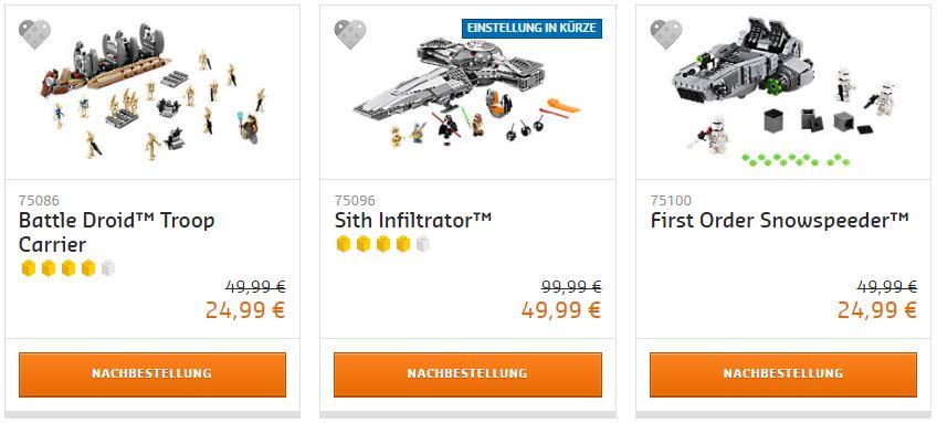 50% Rabatt auf LEGO Star Wars Sets!