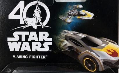 Hot Wheels Y-Wing Fighter Carship & 40th Anniversary Cars