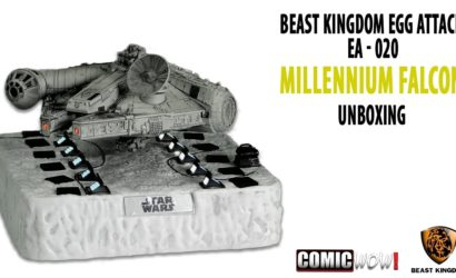 Unboxing-Video zum schwebenden Beast Kingdom Millennium Falcon