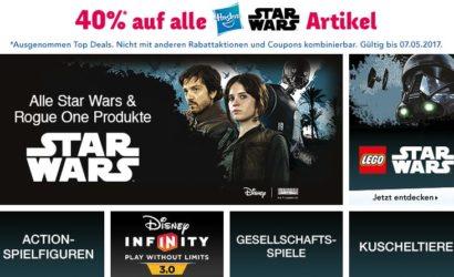 "40% Rabatt auf alle Hasbro Star Wars Artikel bei Toys""R""Us"