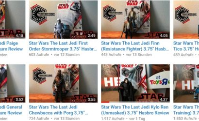 Review-Videos zu allen neuen Hasbro The Last Jedi 3.75″ Figuren