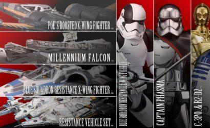 """Alle Bandai Vehicle Bausätze zu """"The Last Jedi"""" im Überblick"""