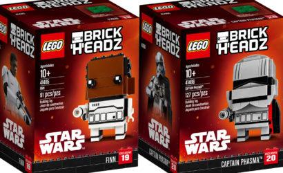 Finn und Captain Phasma als LEGO Star Wars Brickheadz vorgestellt