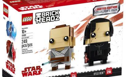 The Brickshow zeigt Review zum LEGO Star Wars Rey & Kylo Ren Brickheadz-Set
