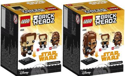 Offizielle Bilder zu den LEGO Han Solo und Chewbacca Brickheadz (41608 & 41609)