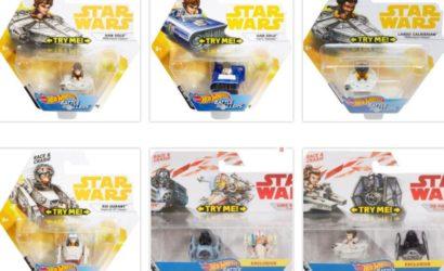 Ganz neu im Collectors Guide: Die Hot Wheels Star Wars Battle Rollers!
