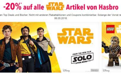 """Toys""""R""""Us: 20% Rabatt auf alle Star Wars Artikel von LEGO und Hasbro"""