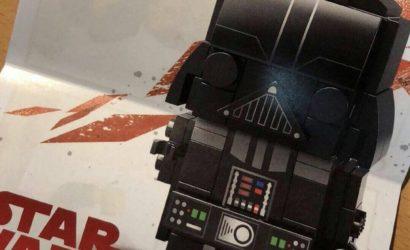 Erstes Bild der LEGO Star Wars Darth Vader Brickheadz-Figur (41619) 