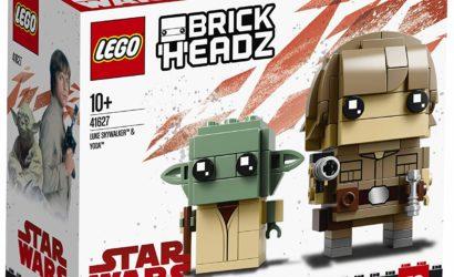 Alle Bilder zum LEGO Luke Skywalker & Yoda BrickHeadz 2-Pack (41627)