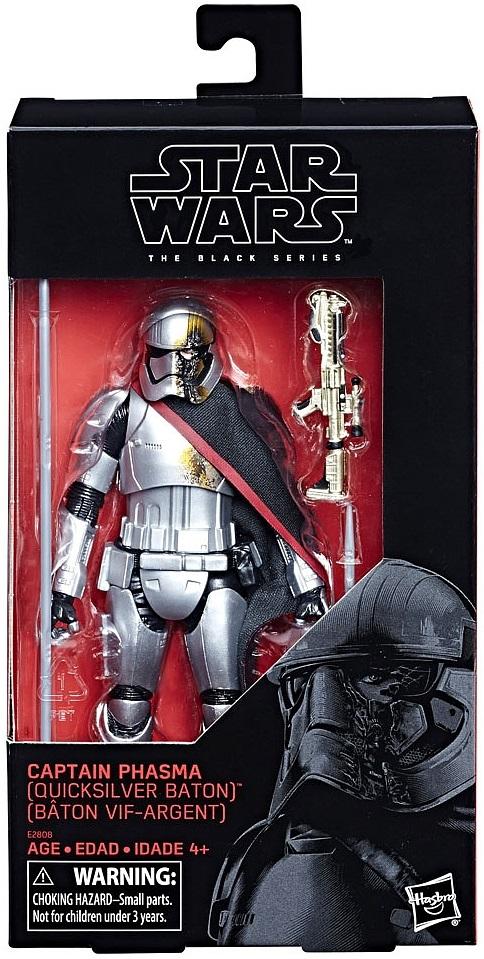 """Star Wars Black Series 6/"""" TRU Exclusive Captain Phasma Quicksilver Baton Hasbro"""