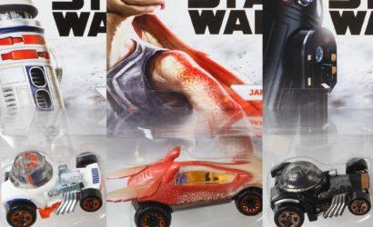 Drei neue Hot Wheels Character Cars: R5-D4, R2-Q5 und Jar Jar Binks!