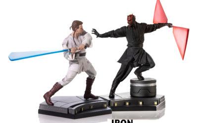 """Obi-Wan Kenobi & Darth Maul als 1/10 """"Battle Diorama Scene"""" von Iron Studios"""