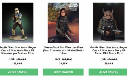 Bis zu 84% Rabatt auf Star Wars-Collectibles von Gentle Giant