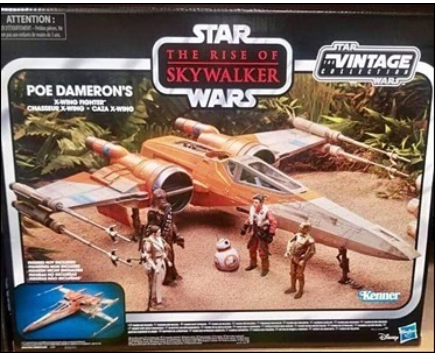 "Hasbro Star Wars Vintage Collection POE DAMERON/'S X-WING 3.75/"" Scale Vehicle"