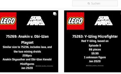 Erste Infos zu den LEGO Star Wars 2020 Winter-Sets!