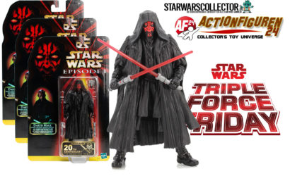 Gewinne 1 von 3 Black Series Darth Maul SDCC 2019 Exclusive 6″-Figuren!