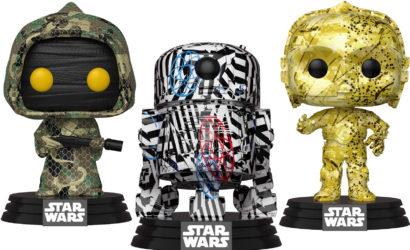 Drei neue Funko POP! Star Wars-Wackelköpfe im Futura-Design