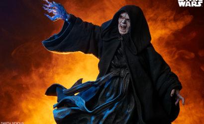 Erste Infos und viele Bilder zur Sideshow Darth Sidious 1/5 Mythos-Statue