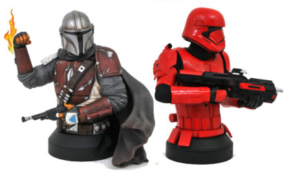 The Mandalorian und Sith Trooper als Mini-Büsten von Gentle Giant