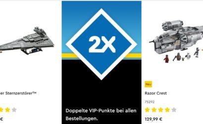 Noch bis Sonntag: Doppelte VIP-Punkte im LEGO-Onlineshop!