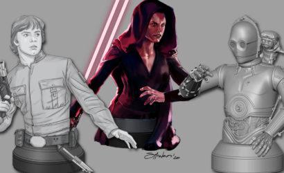 Drei neue Gentle Giant Star Wars Concept Arts von der SDCC 2020