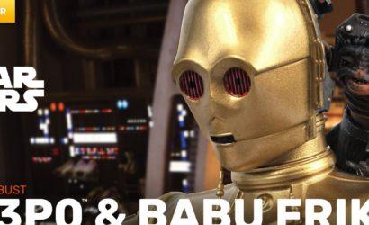 Gentle Giant C-3PO & Babu Frik 1/6th Scale Mini-Bust: Alle Infos und Bilder
