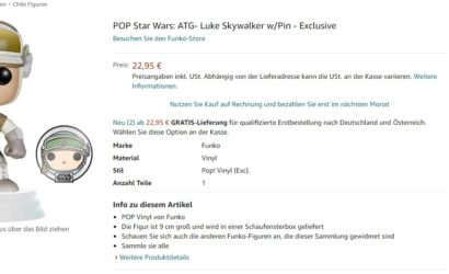 Funko POP! Amazon Exclusive Luke Skywalker (Hoth) (with Pin): Ab sofort vorbestellbar
