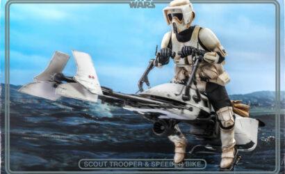 Hot Toys 1/6 Scale Scout Trooper & Speeder Bike zu The Mandalorian: Finale Produktbilder