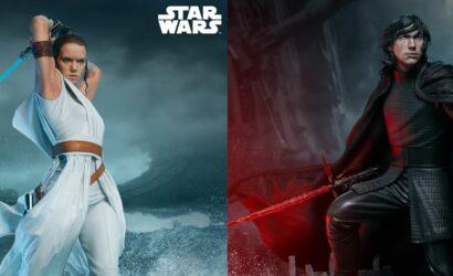 Neue Rey- & Kylo Ren Premium Format-Statuen von Sideshow angekündigt