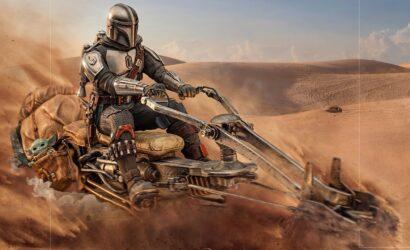 The Mandalorian on Speeder Bike Deluxe-Statue von Iron Studios: Alle Infos und Bilder